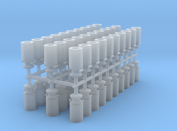 Milk Containers N scale 3d printed Milk Containers N scale