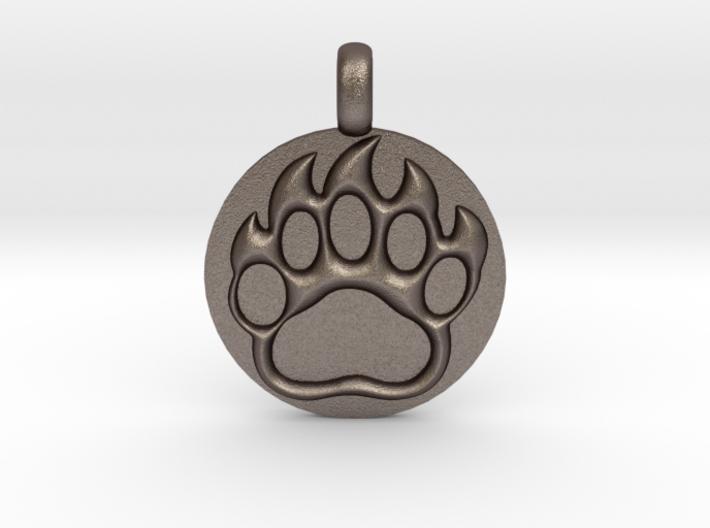 BEAR PAWN Animal Totem Jewelry pendant 3d printed