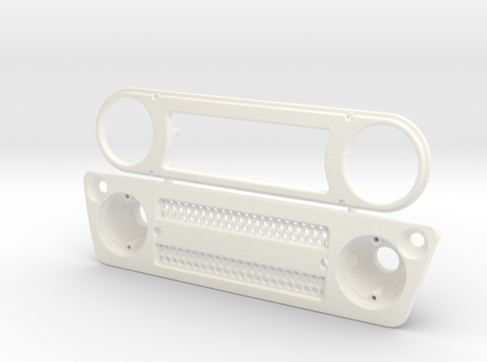 AC003 Axial Capra FJ Grill 3d printed Part as it comes from Shapeways.