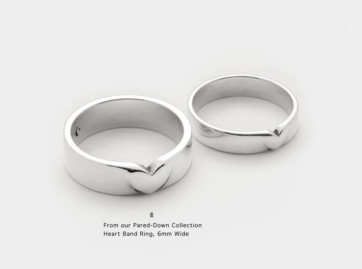 I Love You Heart Promise Ring for Women .4mm Wide  3d printed Love Heart Promise Band Ring for Women