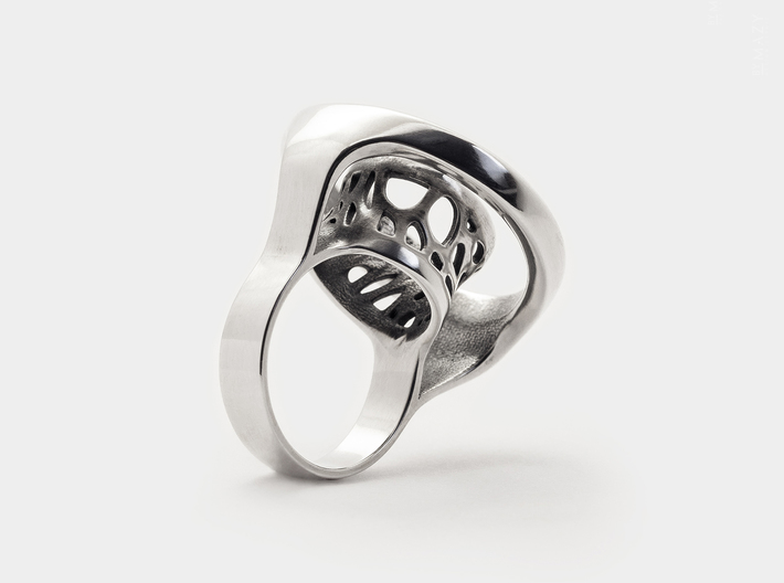 Infinity Open Circle Ring .Minimalist Statement 3d printed Statement Ring 5mm Band Width