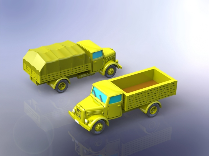 German KHD S3000 Trucks 1/220 3d printed