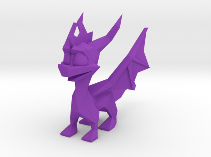 Spyro Low Poly Wings A 3d printed