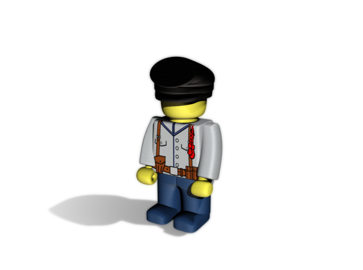 5 x Stuermer (forage cap or student cap) 3d printed Example render of an Civil War South regiment