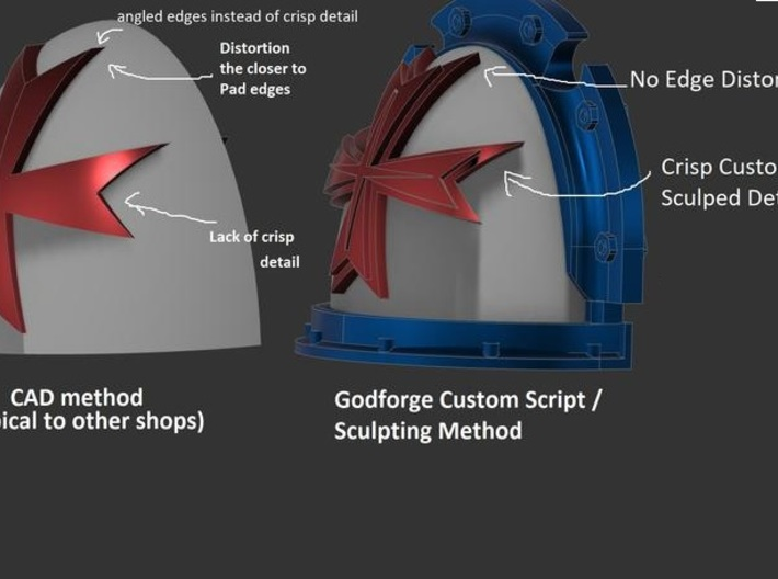 12x Shoulderpads - Carcharodon sharks - Angled - R 3d printed
