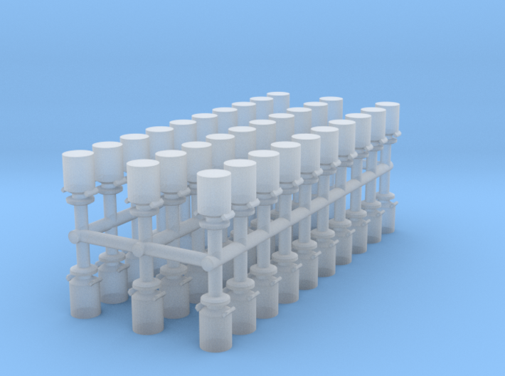 Small Milk Containers Z scale 3d printed Milk Containers Z scale