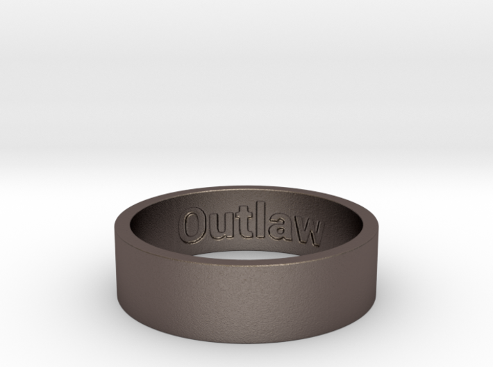 Outlaw Mens Ring Size 13 (Engraved Inside) 3d printed