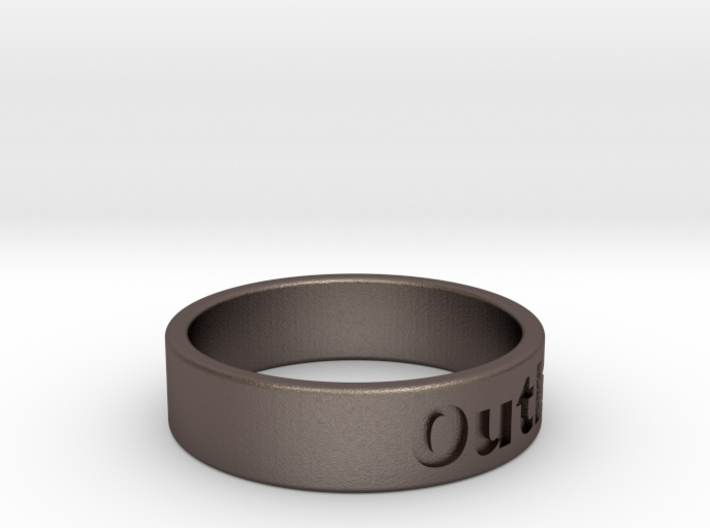 Outlaw Mens Ring 21.3mm Size12 3d printed