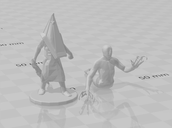Silent Hill Lurker miniature for games rpg horror 3d printed
