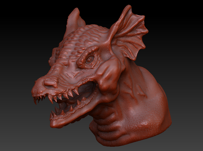 Dragon Bust 3d printed