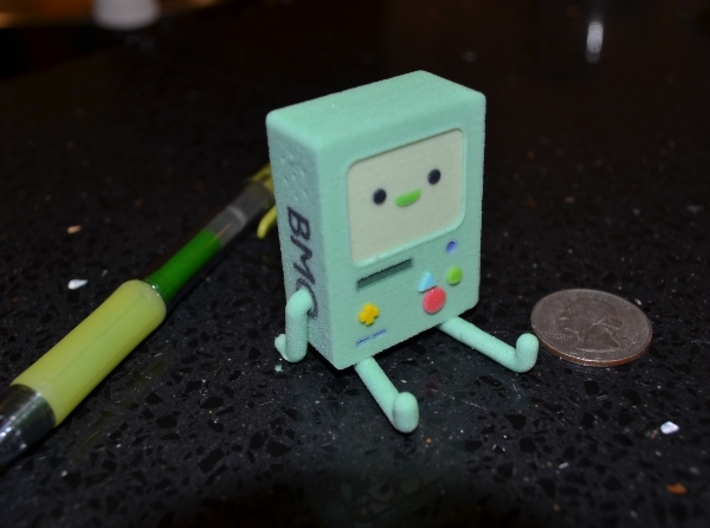 BMO Figure Small 3d printed BMO just hanging out.
