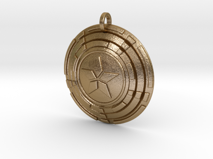 Captain America 2130 Shield Keychain 3d printed