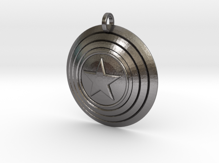 Captain America Shield Keychain 3d printed