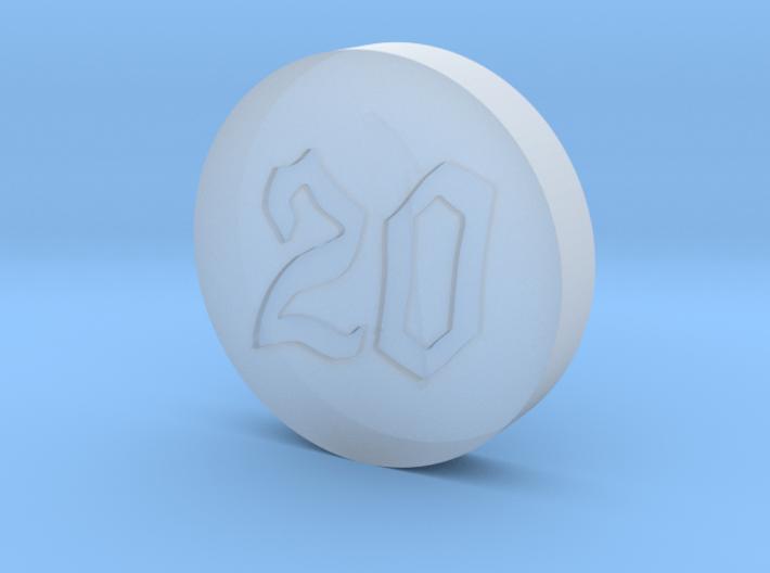 Elizabeths Dice Font 6 Coin 3d printed