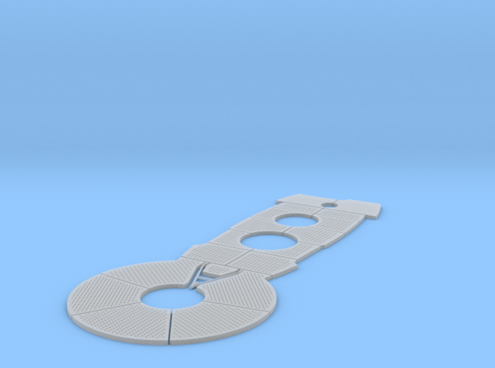 1/48 DKM Uboot VIIC Conning Tower Deck Panel Set 3d printed