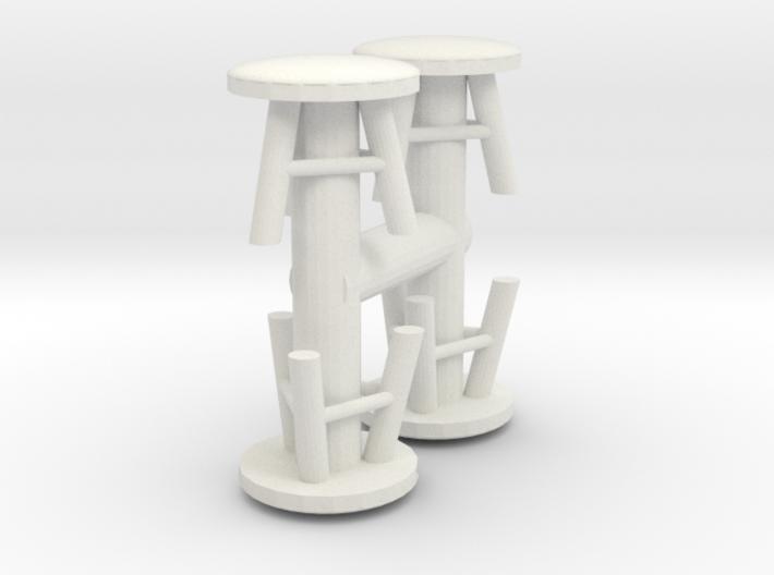 Stool (x4) 1/48 3d printed