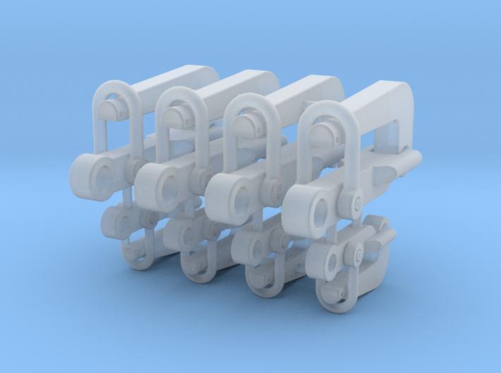 Pelican hook SWL70+SWL150 ton - 1:50 - 2x 4 items 3d printed