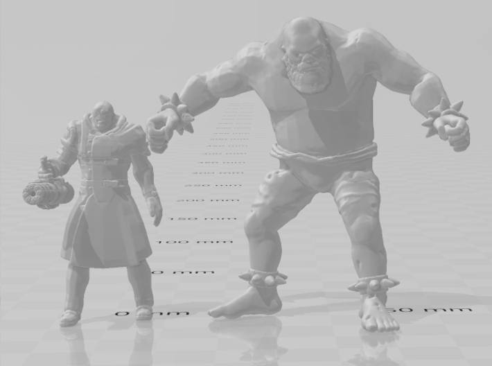 Resident Evil Ndesu giant 55mm miniature games rpg 3d printed