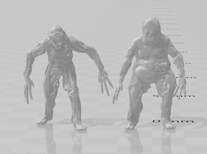 Resident Evil Molded miniature for games and rpg 3d printed