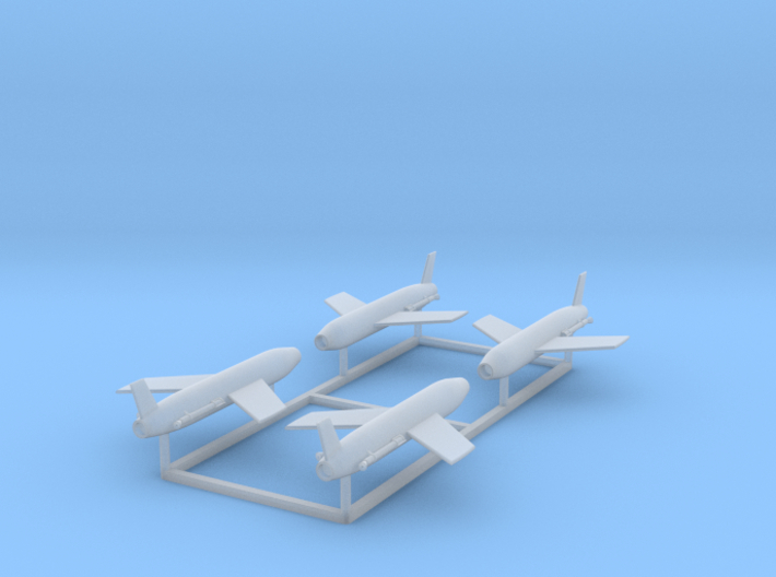 4 x Regulus I Missile 1/350 scale 3d printed