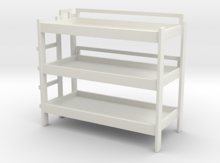 Triple Bunk Bed 1/72 3d printed