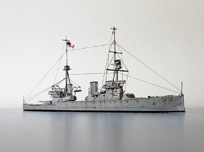 Battlecruiser Invincible 3d printed Assembled and painted model