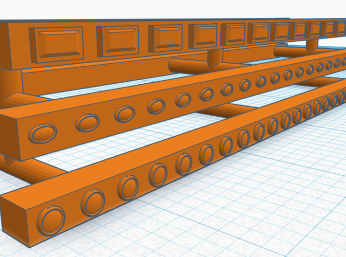 1/87th light strip for truck cabs, sleepers etc 3d printed