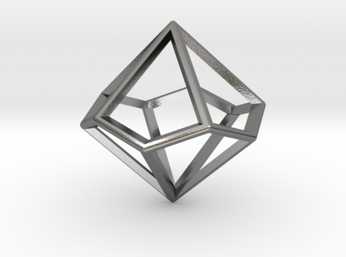 Wireframe Polyhedral Charm D10/Decahedron 3d printed