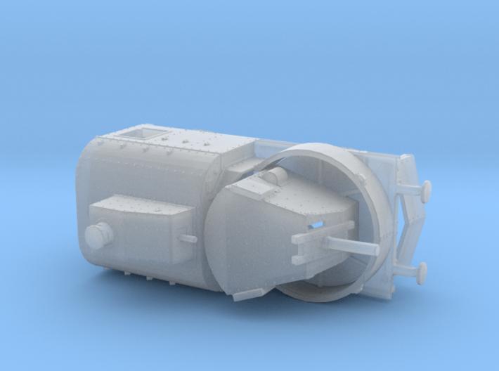 1/160th (N scale) scale Armoured traincar, gun car 3d printed