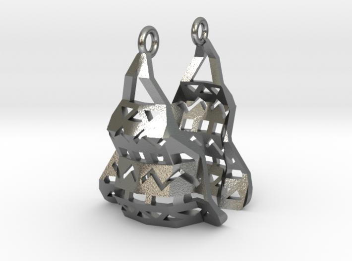 Aztec Earrings 3d printed