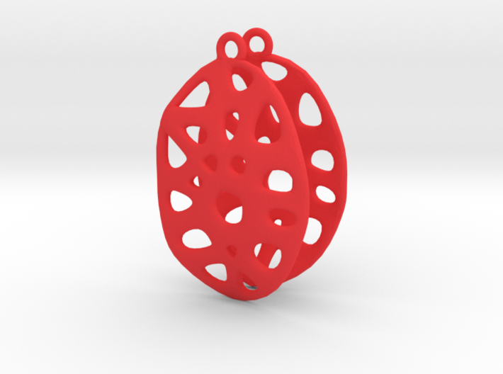 Exteriority Earrings 3d printed