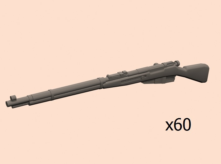 28mm Mosin rifle 60 pack 3d printed