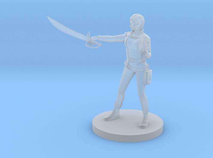 Elf Female Hexblade Warlock 3d printed