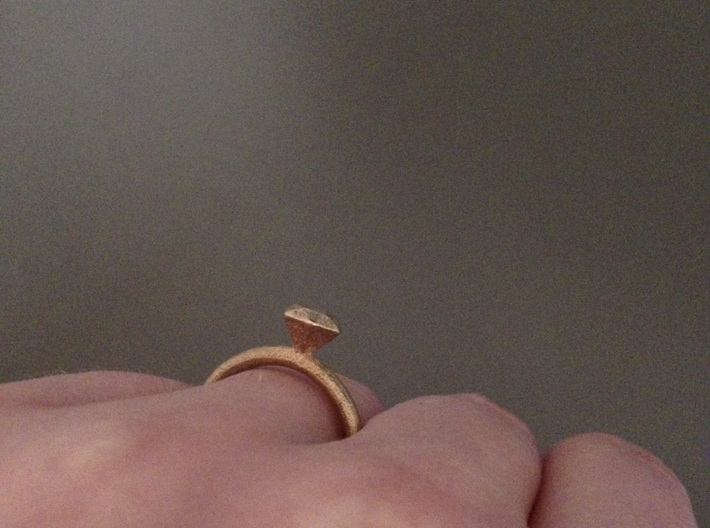 Ring Diamond 16D 3d printed
