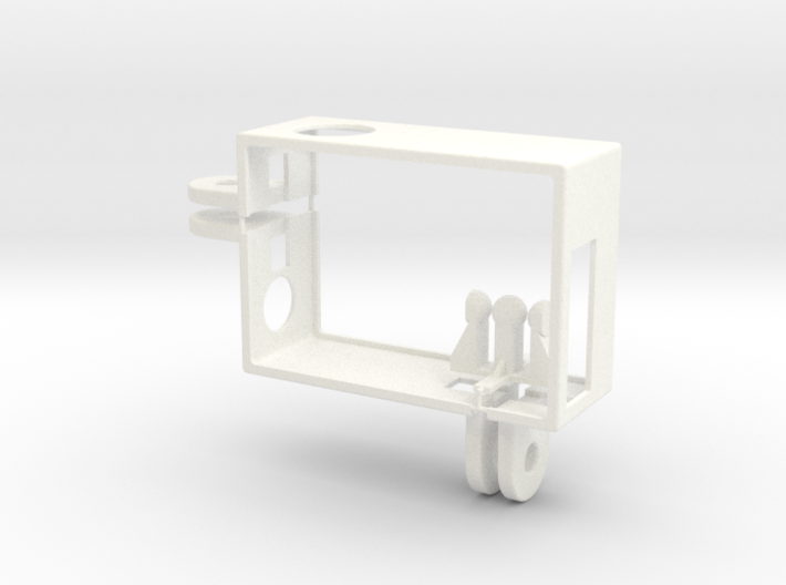 GoPro Hero3 frame with 2 connectors 3d printed