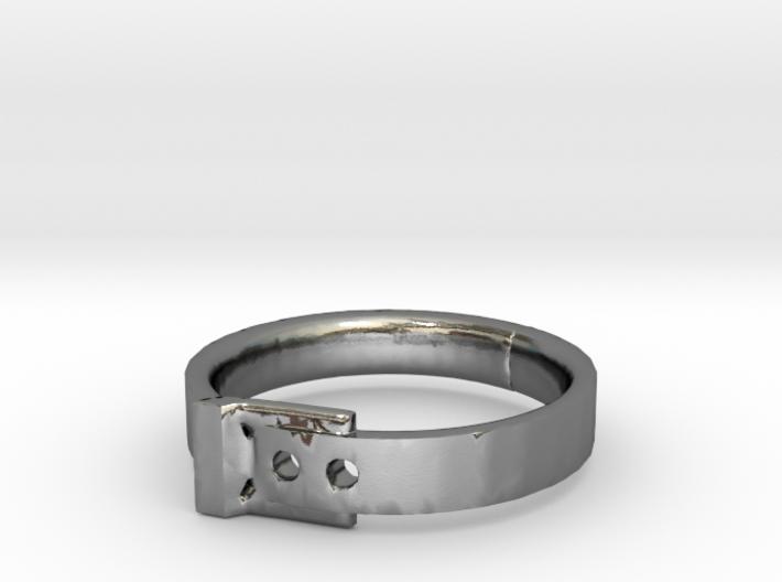 Belt Buckle Ring - Sz. 8 3d printed