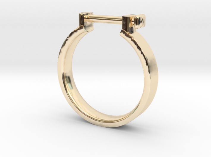 Cowboy Shackle Ring - Sz. 8 3d printed