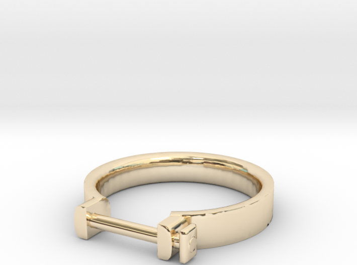 Cowboy Shackle Ring - Sz. 9 3d printed