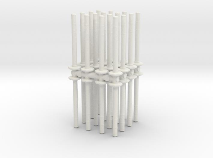 Traffic Pylon (x32) 1/56 3d printed