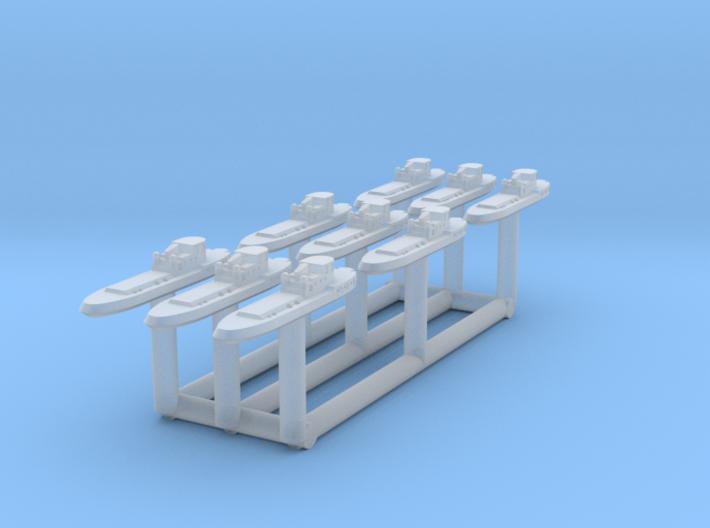 005I Tug Boat 1/3000 set of 9 3d printed