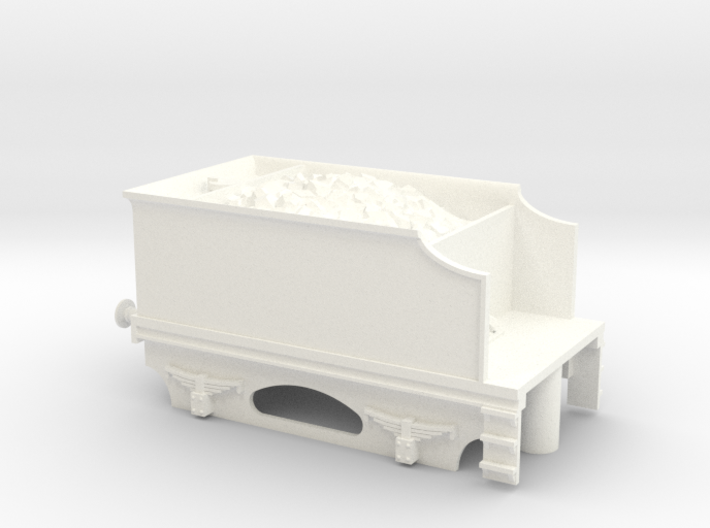 4 Wheel Tender With Coal 3d printed