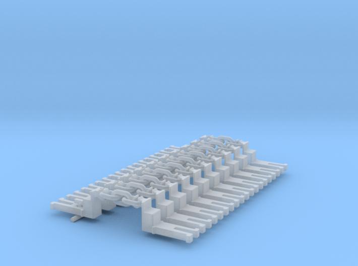 NEM OO Type 15 Couplings - Big-Step Up 3 Link x10 3d printed
