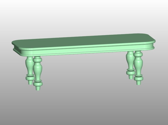 Victorian Dining Set HO Scale 1/87 3d printed Add a caption...