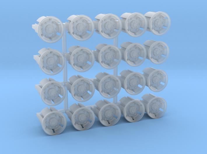 20 Felgen für Tieflader TU 3 / TU 4 3d printed
