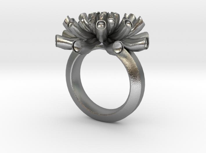 Sea Anemone ring 17mm 3d printed
