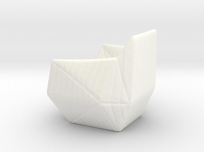 "Facett-chair  - 1/2"" Model 3d printed"