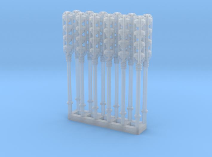 12pcs: N Scale Ship Lamp 3d printed