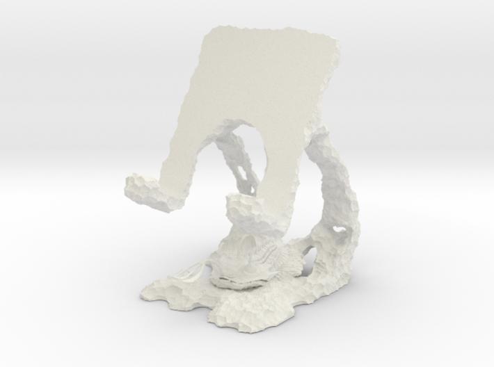 Trilobite Phone Stand - Walliserops Trifurcatus 3d printed