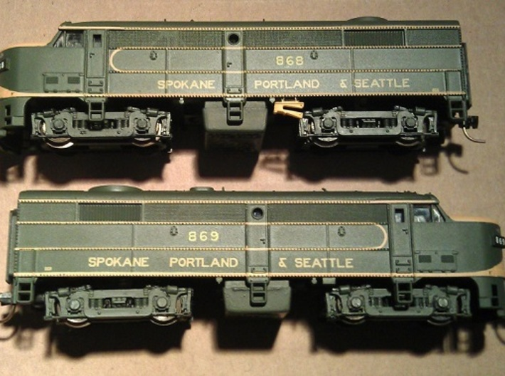 16 No. Re-Railers Type 1 Hanging N Scale 1:160 3d printed Type 1 Re-Railer On Life Like FA2