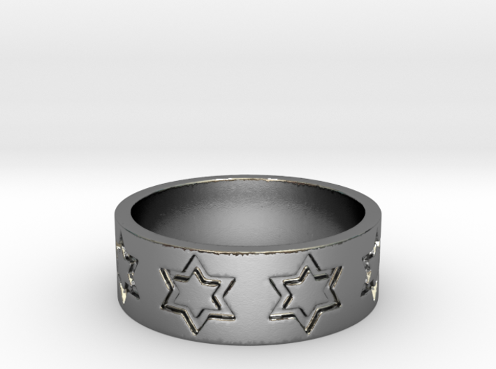 51 STAR RING Ring Size 8.25 3d printed